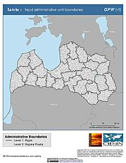 Map: Administrative Boundaries: Latvia