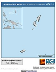 Map: Administrative Boundaries: Northern Mariana Islands