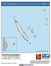 Map: Administrative Boundaries: New Caledonia