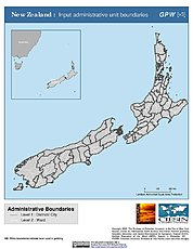 Map: Administrative Boundaries: New Zealand