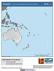 Map: Administrative Boundaries: Oceania