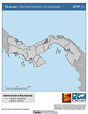 Map: Administrative Boundaries: Panama