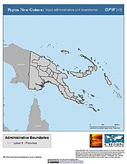 Map: Administrative Boundaries: Papua New Guinea