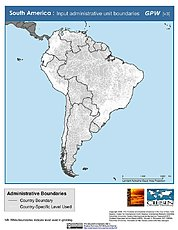 Map: Administrative Boundaries: South America