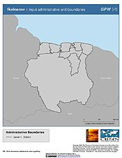 Map: Administrative Boundaries: Suriname