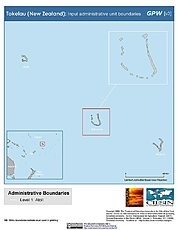 Map: Administrative Boundaries: Tokelau