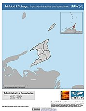 Map: Administrative Boundaries: Trinidad & Tobago