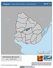 Map: Administrative Boundaries: Uruguay