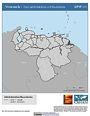 Map: Administrative Boundaries: Venezuela