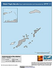 Map: Administrative Boundaries: British Virgin Islands