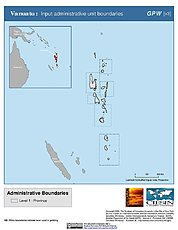 Map: Administrative Boundaries: Vanuatu