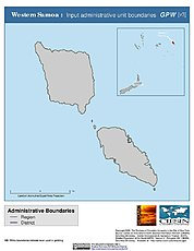 Map: Administrative Boundaries: Western Samoa