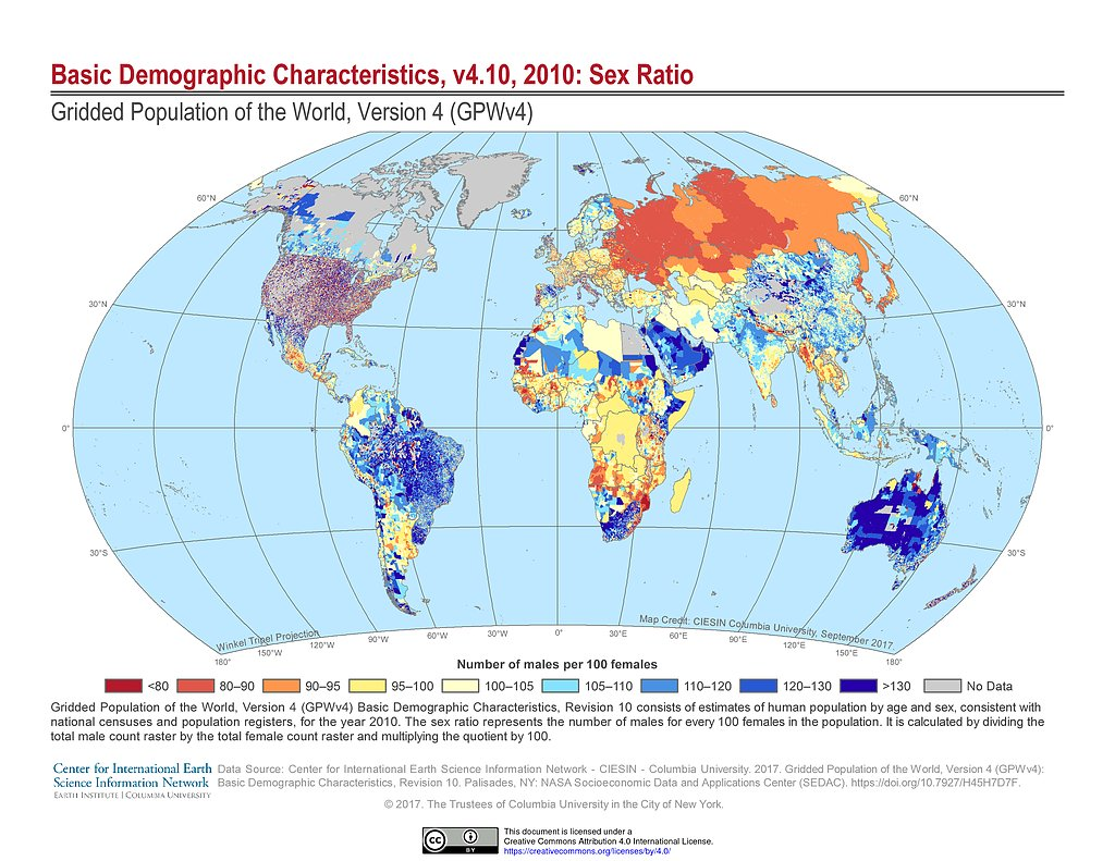Maps gridded population of the world gpw v4 sedac basic demographic characteristics 2010 sex ratio gumiabroncs Images