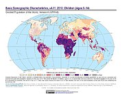 Map: GPWv4 Rev11: Basic Demographic Characteristics (2010): Children