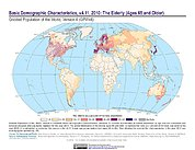 Map: GPWv4 Rev11: Basic Demographic Characteristics (2010): The Elderly