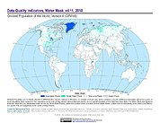 Map: GPWv4 Rev11: Water Mask (2010)
