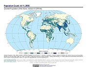 Map: GPWv4 Rev11: Population Count (2000)