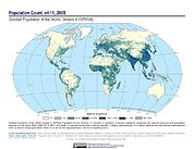 Map: GPWv4 Rev11: Population Count (2005)