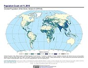 Map: GPWv4 Rev11: Population Count (2010)