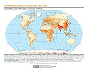 Map: UN WPP-Adjusted Population Density (2020)