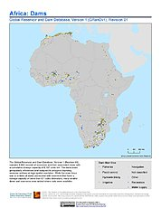 Map: Africa: Dams, Revision 01