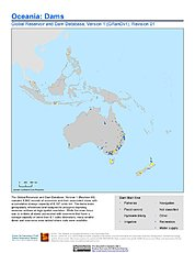 Map: Oceania: Dams, Revision 01