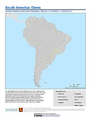Map: South America: Dams, Revision 01