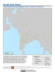 Map: South Asia: Dams, Revision 01