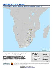 Map: Southern Africa: Dams, Revision 01