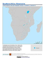 Map: Reservoirs, v1.01: Southern Africa