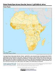 Map: Global Roads Open Access Data Set, v1: Africa