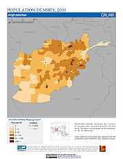 Map: Population Density (2000): Afghanistan