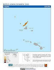 Map: Population Density (2000): Anguilla