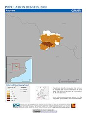 Map: Population Density (2000): Andorra
