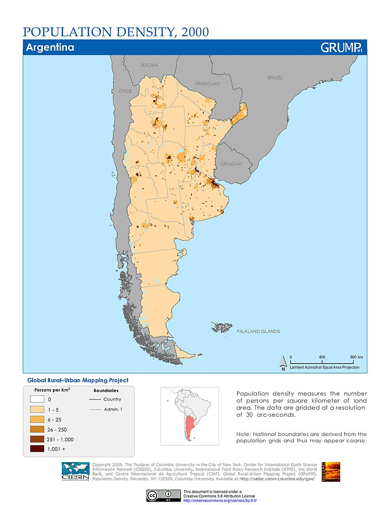 Maps » Global Rural-Urban Mapping Project (GRUMP), v1 | SEDAC