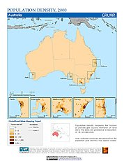 Map: Population Density (2000): Oceania