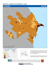 Map: Population Density (2000): Azerbaijan