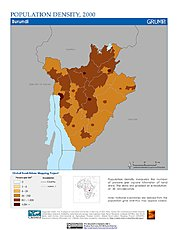 Map: Population Density (2000): Burundi