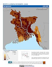 Map: Population Density (2000): Bangladesh