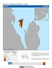 Map: Population Density (2000): Bahrain
