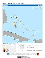 Map: Population Density (2000): Bahamas