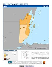 Map: Population Density (2000): Belize