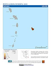 Map: Population Density (2000): Barbados