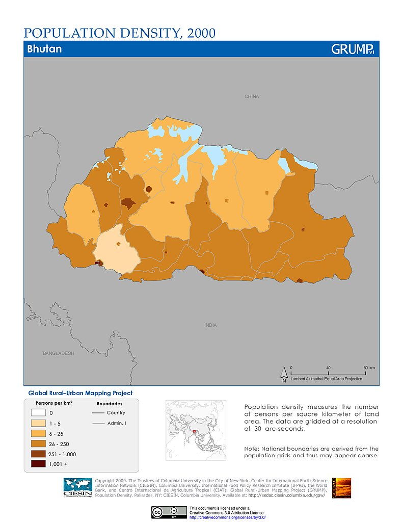 Maps Population Density Grid v1 SEDAC