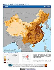 Map: Population Density (2000): China