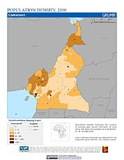 Map: Population Density (2000): Cameroon