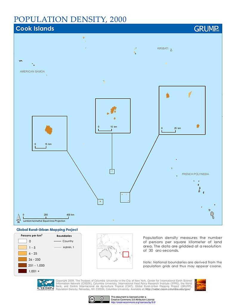 Maps Population Density Grid v1 SEDAC