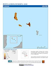 Map: Population Density (2000): Comoros