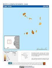 Map: Population Density (2000): Cape Verde