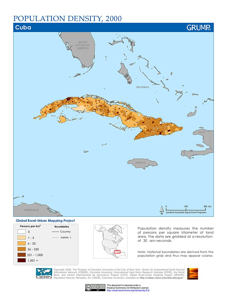 geography of cuba Area comparative: the area of various small countries expressed in comparison to various areas within the united states of america area  land: total land area in square kilometres  area  land  per capita: total land area in square kilometres per capita figures expressed per 1,000 population.